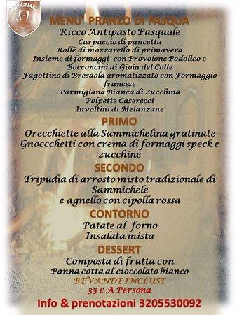Sammichele di Bari, Italy: Menù di Pasqua info & prenotazioni 3205530092