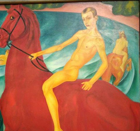 Третьяковская галерея на Крымском валу: Купание красного коня