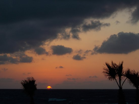 Kefalos Beach Tourist Village: Sunset from balcony