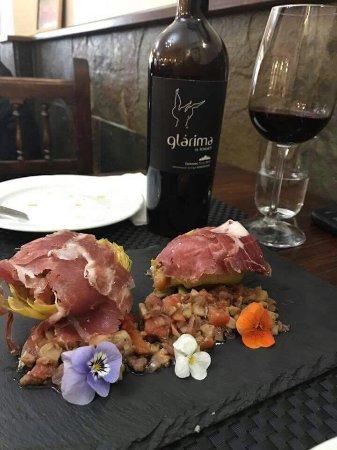 Alhaurin el Grande, Spanien: Alcachofas confitadas con jamón ibérico