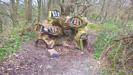 Matlock, UK: wooden sculpture