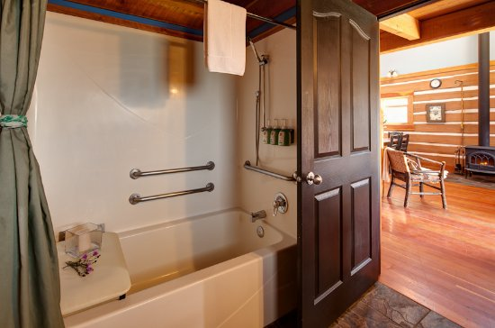Radium Hot Springs, Canadá: Tegart cabin accessible washroom