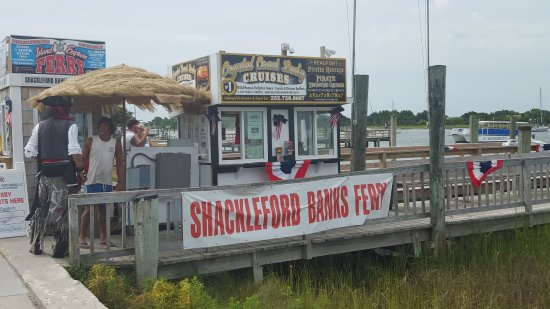 Island Express Ferry Ticket Booth at 600 Front St in Beaufort (across from BB&T Bank)