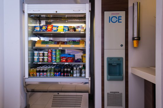Taunton, UK: Peckish? Pick up a snack from our vending fridge