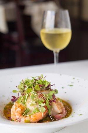 Atlantic Beach, Floryda: shrimp and wine