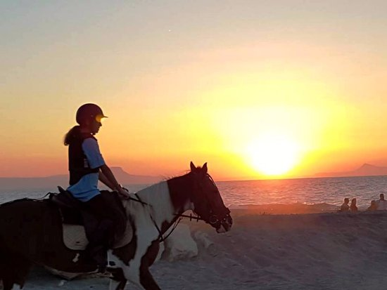 Platanias, กรีซ: Riding by the sunset