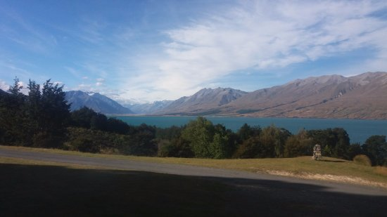 Lake Ohau, New Zealand: The view from our room.