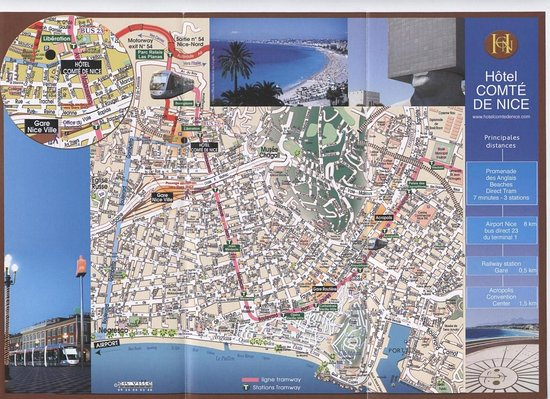Hotel Comte de Nice : City map