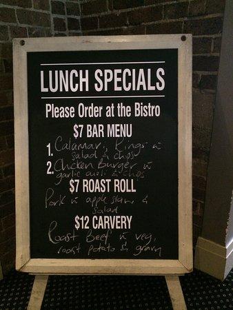 Orange, Australia: Lunch $7 special