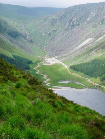 Glendalough Village, Ireland: View from the Spinc and Glenealo Valley hill walk