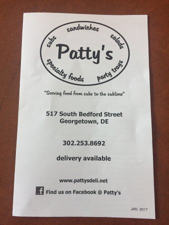 Georgetown, DE: This is the takeout menu. I'm not sure if there is more when you're there. She said she has dail