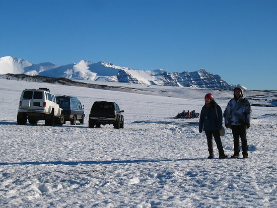 Hofn, Iceland: In front of the cave