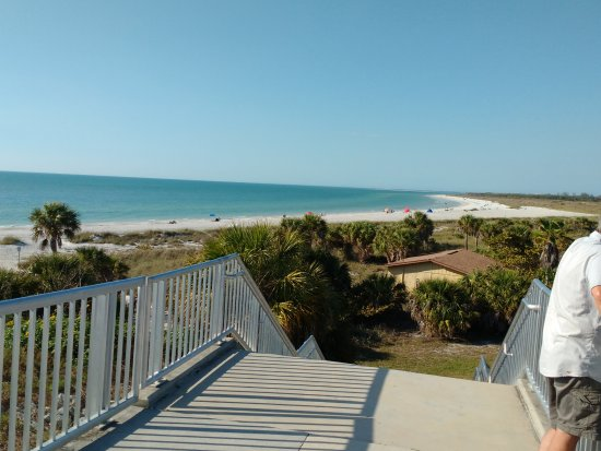 Fort De Soto Park: View from on top of fort toward beach