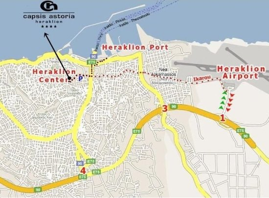 Capsis Astoria Heraklion Hotel: Map - Heraklion