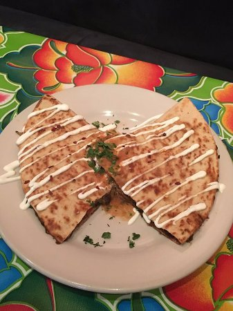 Carbondale, IL: Black Bean Quesadilla, on the menu every day