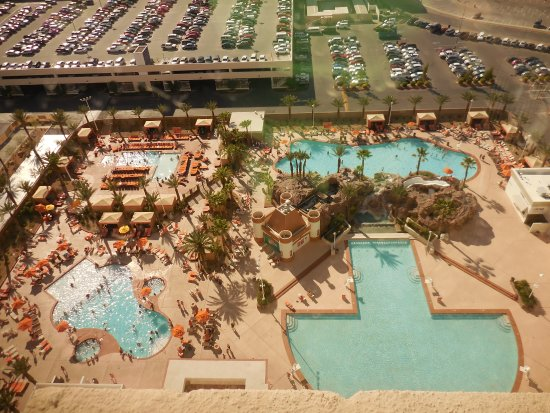 view of the pools from our room Picture of Excalibur Hotel