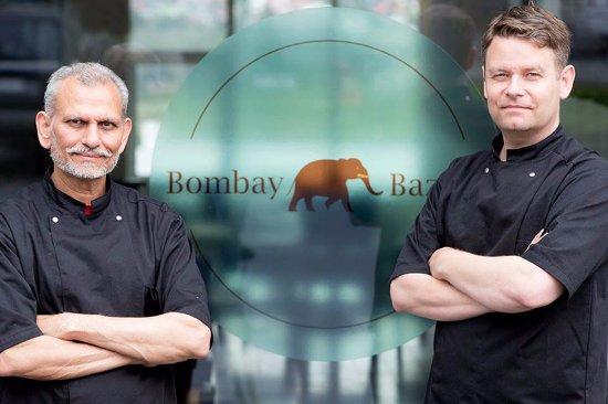 Kopavogur, Islande : Bombay chefs in front of Bombay Bazaar