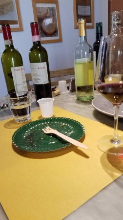 Tuscan Wine Tours by Grape Tours: 1st Winery: 1 white, 3 reds including a Super Tuscan plus cheese and a sampling of a 2016 Olive