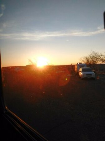 Winslow, AZ: Sunrise at Homolovie State Park