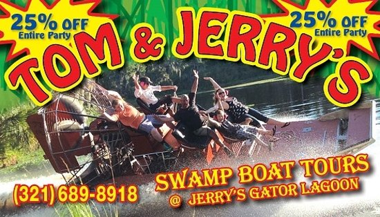 Lake Panasoffkee, FL: Airboat rides n Alligator tours at Tom & Jerry's near Orlando and Tampa