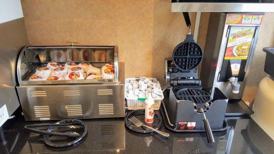 West Orange, NJ: Jimmy Dean breakfast sandwiches and waffles