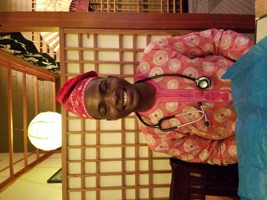 Musasi Japanese Restaurant : Celebrating Tolu's acceptance in the Nursing Program at Hampton University. This is actually his