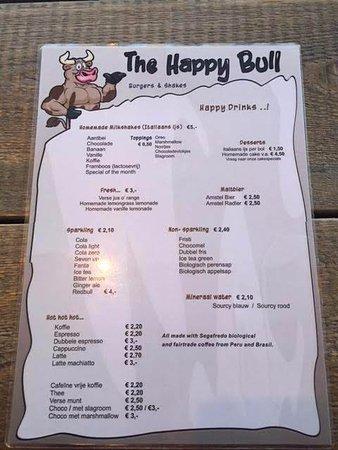 Dog and bull menu