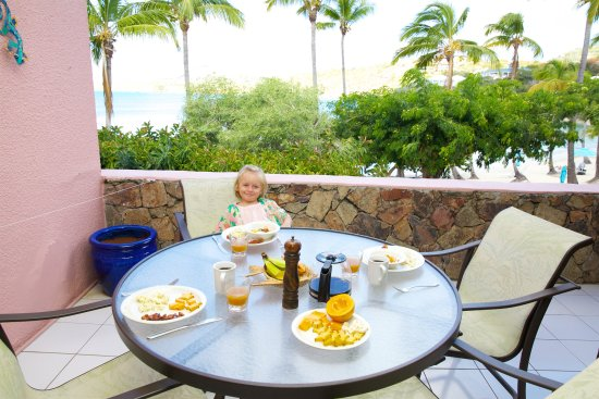 Benner, St. Thomas: in room balcony dining