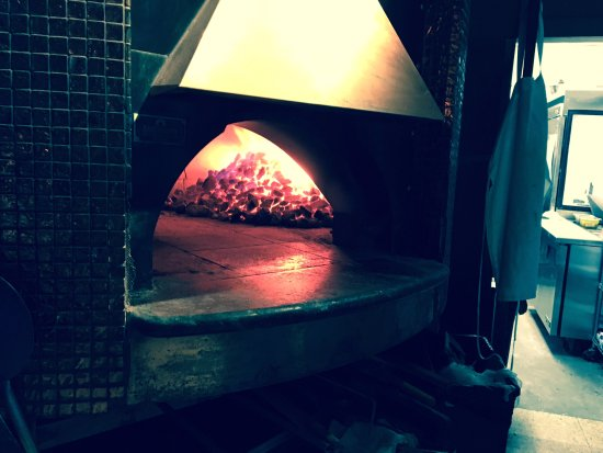 Worthington, OH: The coal fired oven. Sit near it on cold nights!