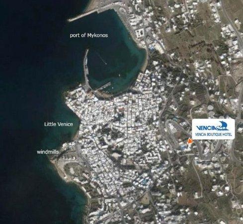 Vencia Hotel: Map