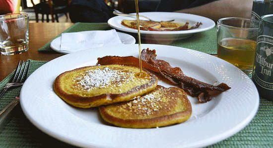Manchester, VT: The Wilburton in famous for a full country breakfast- including  pancakes with local maple syrup