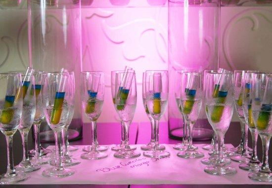 Renaissance Curacao Resort & Casino: Wedding Details - Blue Curacao Mango Shots