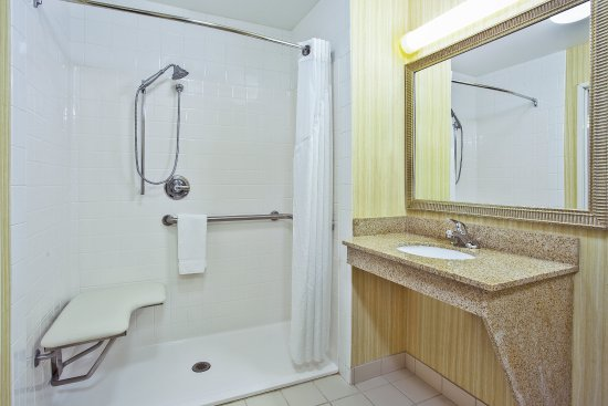 Goshen, Индиана: ADA roll-in shower is very convenient.