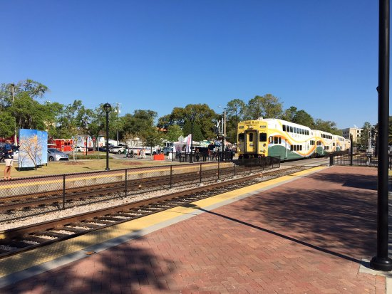 Winter Park, FL: Sunrail coming in from the north