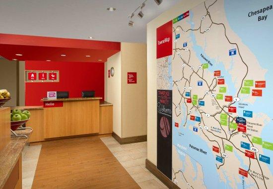 Лексингтон-Парк, Мэриленд: Front Desk & TowneMap
