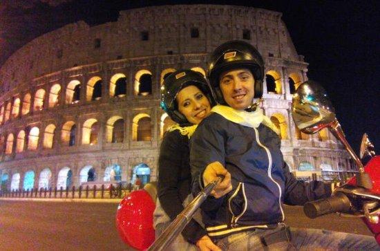 Noche en Roma en Vespa
