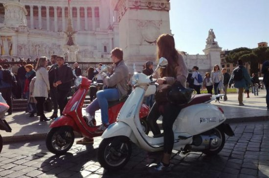 Roma cristiana en Vespa