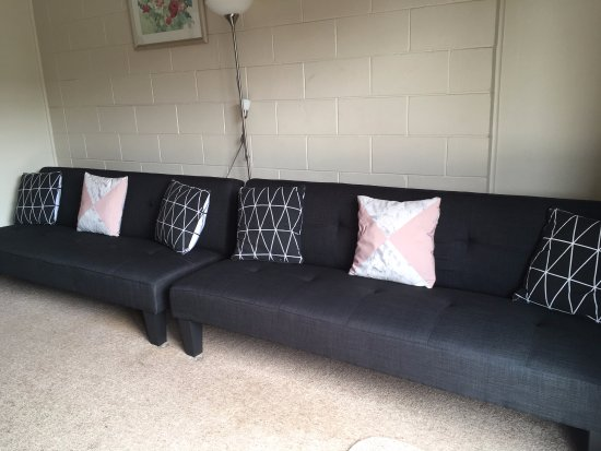 Sofa beds in the two bedroom unit