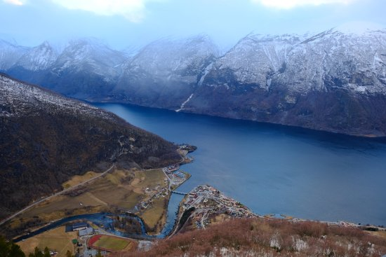 Aurland Municipality, Norveç: looking down on Aurland town