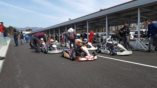 Oyama-cho, Japonya: 模擬レースの様子