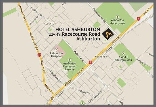 Ashburton, Nya Zeeland: Street Map