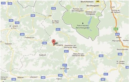 Gschnitz, Austria: Map