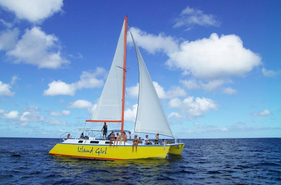 Black Rock, Tobago: Island Girl under Sail