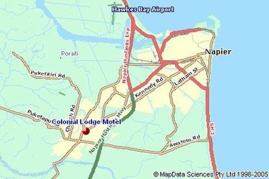 ASURE Colonial Lodge Motel: Map