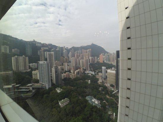 Island Shangri-La Hong Kong: my room overlooking the Hongkong Park