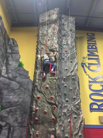 Asheville's Fun Depot: Rock Wall