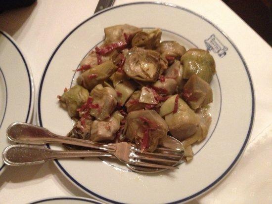 Restuarant Botin: Plato recomendable para el hígado y paladar.