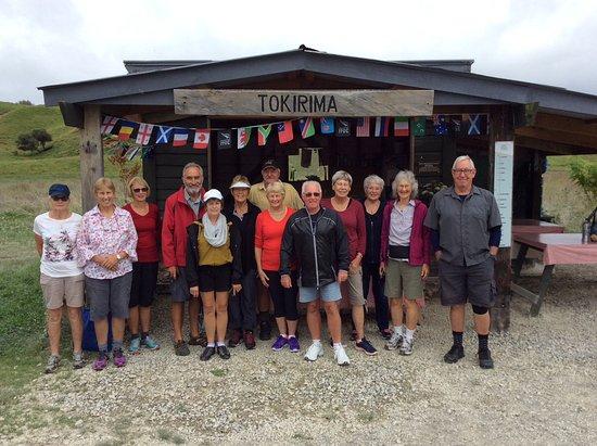 Taumarunui, Nova Zelândia: Our group at start of trail.