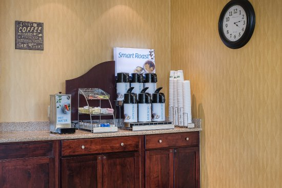 Lafayette, IN: Complimentary 24- hr coffee and tea