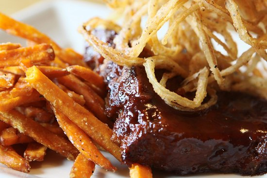 Perkasie, PA: Bourbon Glazed Meatloaf with Sweet Potato Fries
